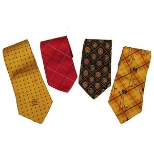 Tommy  Hilfiger Bundle Of 4 100% Silk Ties